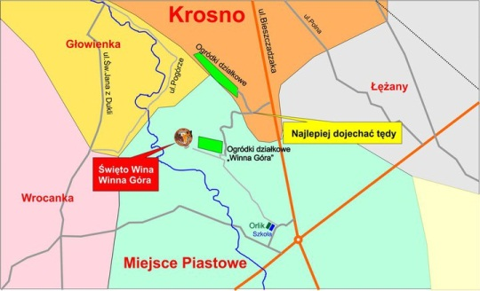 Miejsce Piastowe mapa dojazdu